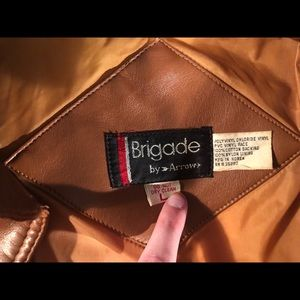 Brigade Jackets & Coats - COPY - Vintage Brown Leather Button-Up Jacket